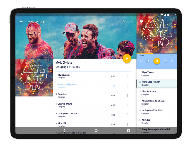 Tablet mockup vibez music 2